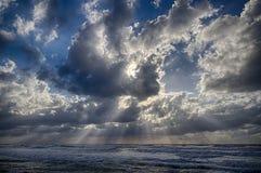 Θύελλα στην παραλία Στοκ φωτογραφίες με δικαίωμα ελεύθερης χρήσης