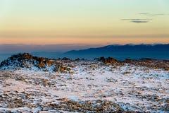 Χειμερινό ηλιοβασίλεμα Vitosha στο βουνό, Βουλγαρία Στοκ εικόνα με δικαίωμα ελεύθερης χρήσης