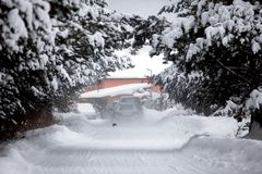 Χειμερινό θέρετρο Στοκ φωτογραφία με δικαίωμα ελεύθερης χρήσης