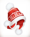 Χειμερινό καπέλο διάνυσμα εικονιδίων εργαλείων Στοκ Εικόνες