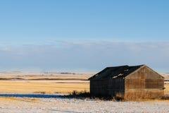Χειμερινό καλλιεργήσιμο έδαφος Στοκ φωτογραφία με δικαίωμα ελεύθερης χρήσης