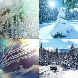 Χειμερινό κολάζ Στοκ φωτογραφίες με δικαίωμα ελεύθερης χρήσης