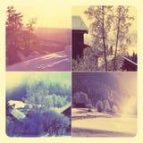 Χειμερινό κολάζ Στοκ Φωτογραφία