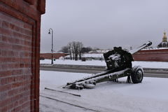Χειμερινό μουσείο πυροβόλων όπλων Αγίου Πετρούπολη Στοκ φωτογραφίες με δικαίωμα ελεύθερης χρήσης