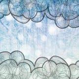 Χειμερινό μπλε υπόβαθρο Στοκ Εικόνα