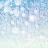 Χειμερινό μπλε υπόβαθρο Στοκ εικόνα με δικαίωμα ελεύθερης χρήσης