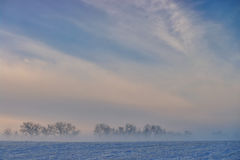 Χειμερινό ομιχλώδες τοπίο Στοκ φωτογραφία με δικαίωμα ελεύθερης χρήσης