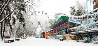 Χειμερινό πάρκο στο χιόνι Στοκ Εικόνα