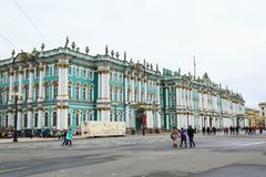 Χειμερινό παλάτι, μουσείο ερημητηρίων σε Άγιο Πετρούπολη, Ρωσία Στοκ εικόνα με δικαίωμα ελεύθερης χρήσης