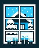 Χειμερινό παράθυρο Στοκ εικόνα με δικαίωμα ελεύθερης χρήσης