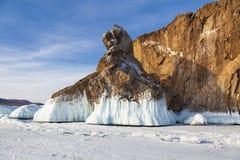 Χειμερινό παραμύθι στη λίμνη Baikal, ανατολική Σιβηρία στοκ φωτογραφία