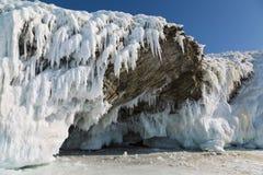 Χειμερινό παραμύθι στη λίμνη Baikal, ανατολική Σιβηρία, στοκ εικόνα με δικαίωμα ελεύθερης χρήσης
