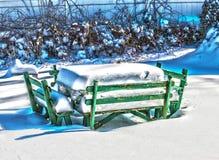 Χειμερινό πικ-νίκ στοκ εικόνα με δικαίωμα ελεύθερης χρήσης