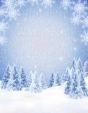 Χειμερινό πλαίσιο Στοκ Εικόνα