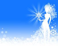 Χειμερινό πλαίσιο ελεύθερη απεικόνιση δικαιώματος