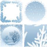 Χειμερινό πλαίσιο διανυσματική απεικόνιση