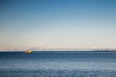 Χειμερινό πρωί στο λιμένα της Τεργέστης Στοκ Φωτογραφία