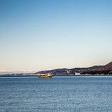 Χειμερινό πρωί στο λιμένα της Τεργέστης Στοκ Εικόνες