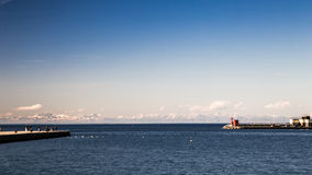 Χειμερινό πρωί στο λιμένα της Τεργέστης Στοκ Εικόνα