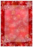 Χειμερινό πλαίσιο Χριστουγέννων - απεικόνιση Κόκκινο Χριστουγέννων - κενό πορτρέτο πλαισίων Στοκ Εικόνα