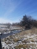 Χειμερινό ρεύμα στις πεδιάδες στοκ φωτογραφίες με δικαίωμα ελεύθερης χρήσης