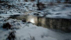 Χειμερινό ρεύμα, τέχνη, rivulet, χιόνι στοκ εικόνες