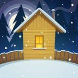 Χειμερινό σπίτι Στοκ Φωτογραφία
