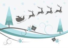 Χειμερινό σχέδιο ταράνδων Χριστουγέννων Στοκ Φωτογραφίες