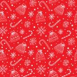 Χειμερινό σχέδιο με snowflakes και τους παρόντες σάκους Στοκ εικόνα με δικαίωμα ελεύθερης χρήσης