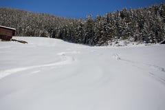 Χειμερινό τοπίο βουνών με την ηλιοφάνεια στοκ φωτογραφίες με δικαίωμα ελεύθερης χρήσης