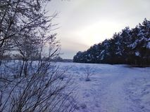 Χειμερινό τοπίο νεράιδων Στοκ Φωτογραφία