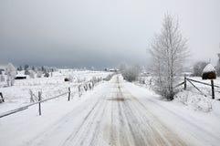 Χειμερινό τοπίο νεράιδων με τα δέντρα έλατου Στοκ Φωτογραφίες