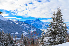 Χειμερινό τοπίο στην Ελβετία Στοκ Εικόνες