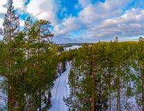 Χειμερινό τοπίο στην κρύα εποχή Στοκ φωτογραφία με δικαίωμα ελεύθερης χρήσης