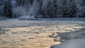 Χειμερινό τοπίο στους λόφους απόθεμα βίντεο
