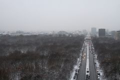 Χειμερινό τοπίο στο Βερολίνο Στοκ εικόνα με δικαίωμα ελεύθερης χρήσης