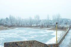 Χειμερινό τοπίο στο πάρκο Στοκ εικόνα με δικαίωμα ελεύθερης χρήσης