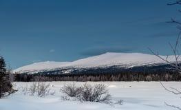 Χειμερινό τοπίο στο ρωσικό Lapland, χερσόνησος κόλα Στοκ φωτογραφίες με δικαίωμα ελεύθερης χρήσης