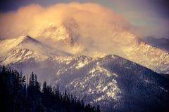 Χειμερινό τοπίο του Κολοράντο Στοκ Εικόνες