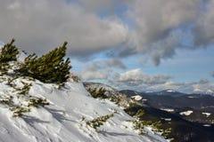 Χειμερινό τοπίο των βουνών Στοκ φωτογραφία με δικαίωμα ελεύθερης χρήσης