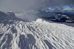 Χειμερινό τοπίο των βουνών Στοκ εικόνα με δικαίωμα ελεύθερης χρήσης