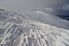 Χειμερινό τοπίο των βουνών Στοκ φωτογραφίες με δικαίωμα ελεύθερης χρήσης