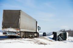Χειμερινό τροχαίο ατύχημα Στοκ φωτογραφία με δικαίωμα ελεύθερης χρήσης