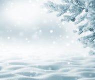 Χειμερινό υπόβαθρο με snowdrifts για τη ευχετήρια κάρτα Στοκ εικόνα με δικαίωμα ελεύθερης χρήσης