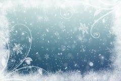 Χειμερινό υπόβαθρο με snowflakes για τις δημιουργίες σας στοκ εικόνα με δικαίωμα ελεύθερης χρήσης