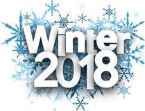 Χειμερινό 2018 υπόβαθρο με snowflakes Στοκ εικόνες με δικαίωμα ελεύθερης χρήσης