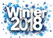 Χειμερινό 2018 υπόβαθρο με snowflakes Στοκ Εικόνες