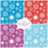 Χειμερινό υπόβαθρο σε τέσσερα χρώματα άνευ ραφής διάνυσμα προτύπ&omeg Διανυσματική απεικόνιση