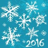 2016 χειμερινό υπόβαθρο Στοκ Φωτογραφία