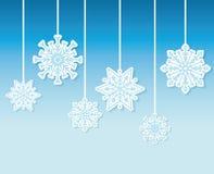 Χειμερινό χιόνι ή snowflake Στοκ Εικόνες